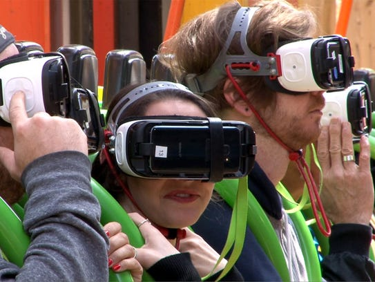Riders prepare to take on the Drop of Doom VR at Six