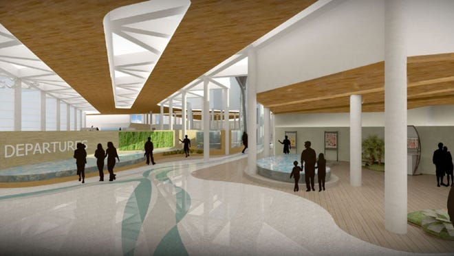 This artist's rendering depicts the future passenger terminal at Orlando Melbourne International Airport.