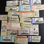 Here is just a sample of the ticket stubs from concerts that Jeffrey Pederson has seen.