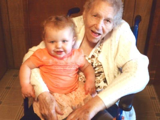 Engagements: Grandma Justine Harris & Great-Granddaughter Reagan Harris