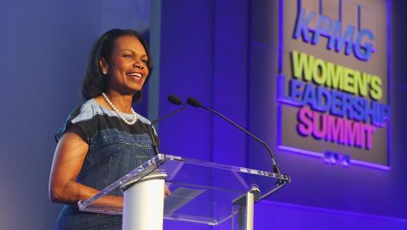 Former Secretary of State Condoleezza Rice.