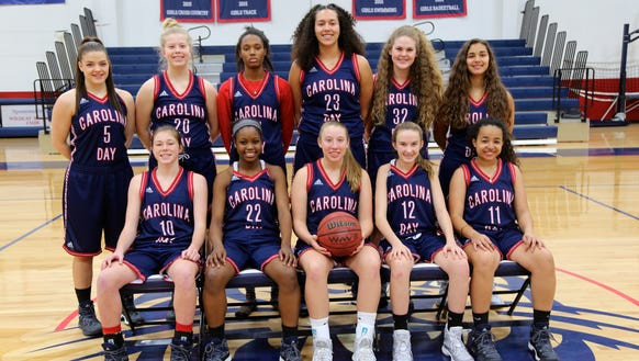 The Carolina Day girls basketball team.