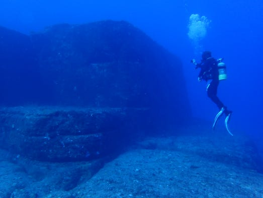 Some people say the Yonaguni ruins off the coast of