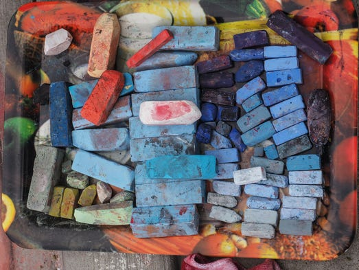 Pastel chalk paintings come to life at the reno chalk art festival an