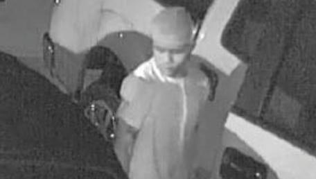 A burglary suspect is seen on video surveillance on Sept. 24, 2016.