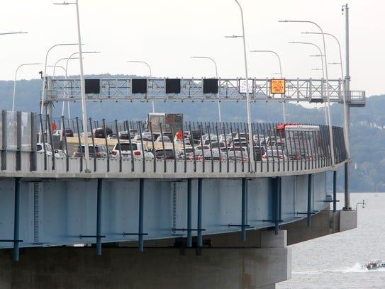 Northbound traffic on the Gov. Mario M. Cuomo Bridge