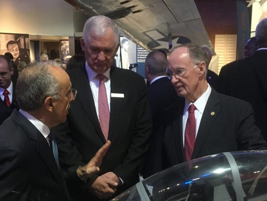 Gov. Robert Bentley was at the announcement in Tuskegee.