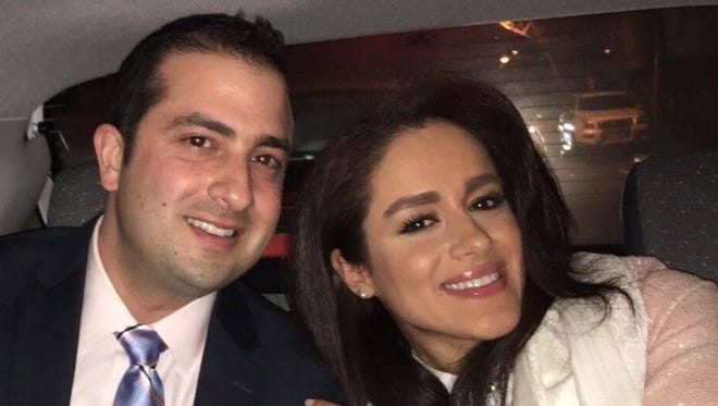 Cedar Crest graduate Sohail Sobhani with his wife, Iranian citizen Solmaz Behzadpour. Behzadpour was in the final phases of getting her marriage visa when President Trump's travel ban went into place.
