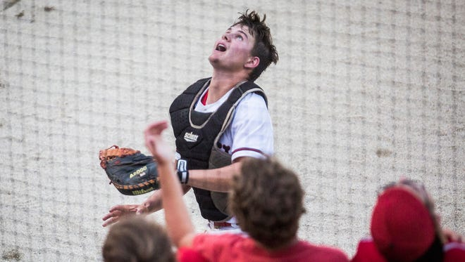 Wapahani's Tysen Lipscomb, shown here during the 2017 state championship, went 3-for-3 Monday against Winchester.