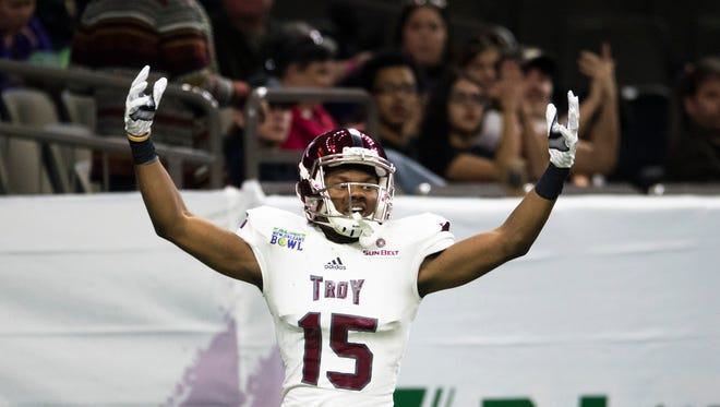Damion Willis, who posted gaudy numbers in Troy's New Orleans Bowl win last season, did it again in Tuesday's victory over South Alabama.