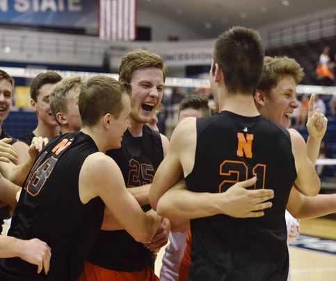 Northeastern boys' volleyball wins fifth straight state championship