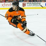 Del Zotto had 10 goals and 32 points in 64 games for the Flyers this past season.