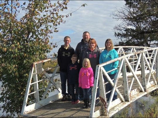 This family picture was taken the day before Jason Kroeplin Jr. proposed to Nicole Perdue in October 2016. The children are Jason (JT) Kroeplin III (from left), Austyn Kroeplin, Savannah Perdue and Emily Kroeplin.
