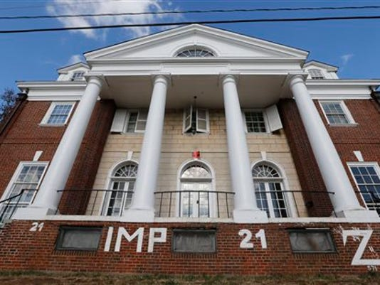 Three University of Virginia graduates and members of the Phi Kappa Psi fraternity profiled in a debunked account of a gang rape in a retracted Rolling Stone magazine story filed a lawsuit against the publication and the article's author.