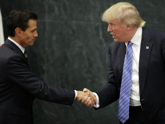 TOPSHOT-MEXICO-US-PENA NIETO-TRUMP