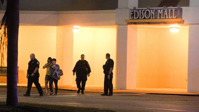 Fort Myers police investigated reports of a shooting at Edison Mall Wednesday night. Police said they found no evidence of a disturbance.