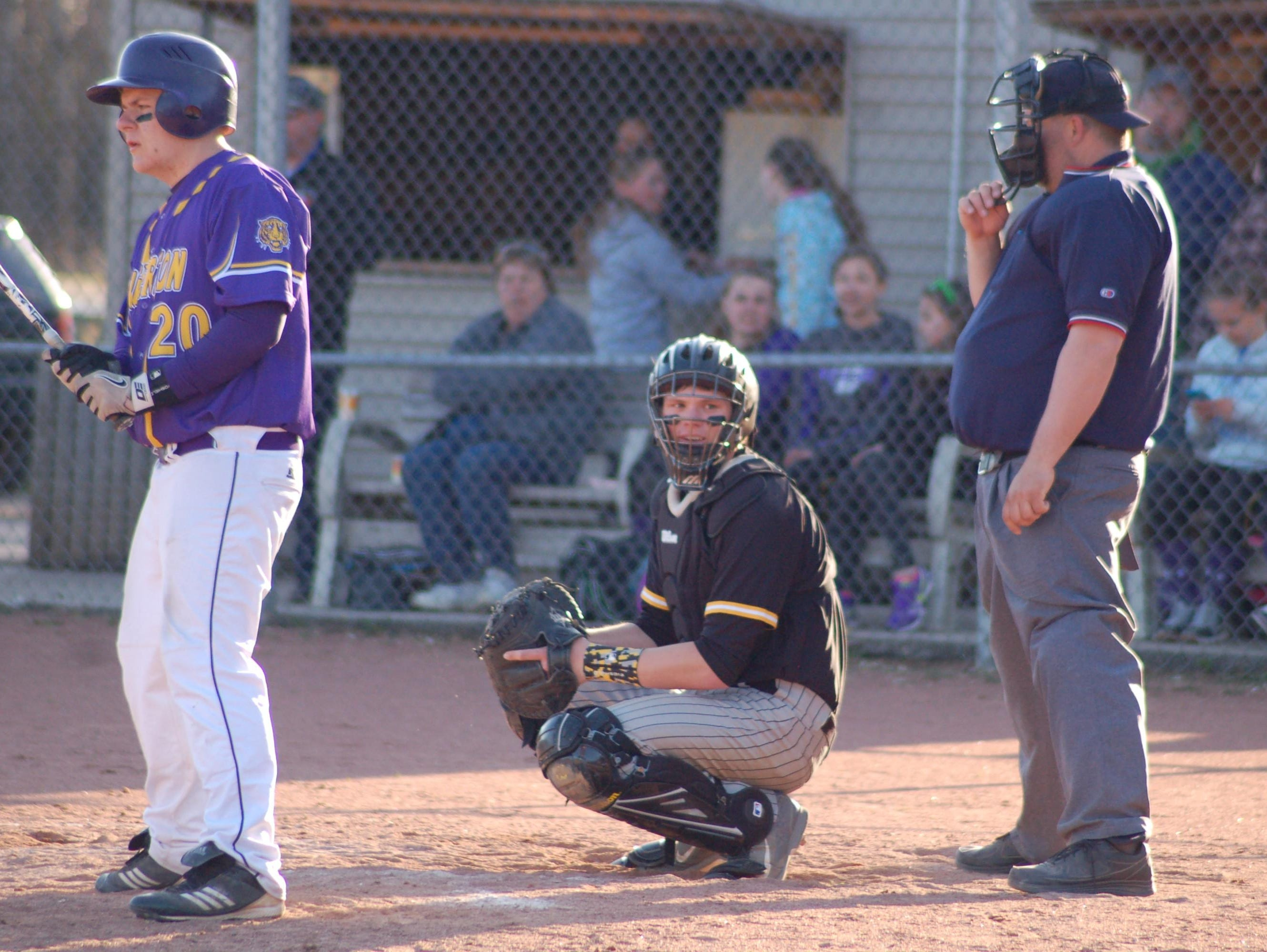 Spencer Bembenek (center) is the Central Wisconsin Conference-10 baseball player of the year, and one of two Rosholt players to make the first team.
