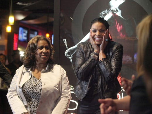 Aretha Franklin and Jordin Sparks appear at the premiere