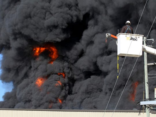 Large Fire Breaks Out At Furniture Plant In Northeast