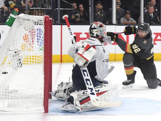 9c99c1e8453 Stanley Cup 2018  Golden Knights prevail 6-4 in Game 1 vs. Capitals