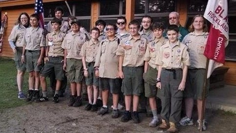 Scouts from Troop 55 at Camp Read, where the boys go for a week of camping and merit badge work.