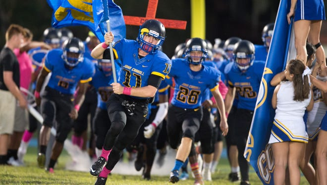 Images from John Carroll Catholic against St. John Paul II during the high school football game Friday, Oct. 21, 2016, at John Carroll Catholic High School in Fort Pierce.