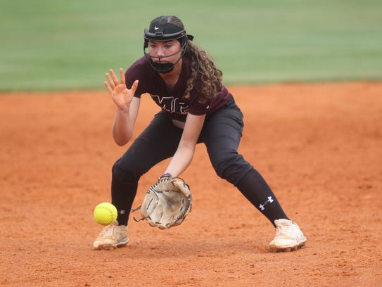Madison County second baseman Halie Wetherington and