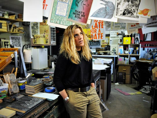 Artist Mary Bruno designs and produces letterpress