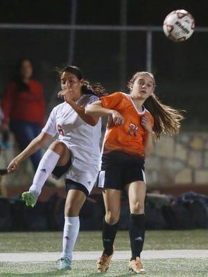 El Paso High's Halle Lauterbach leads the team in scoring with 22 goals.