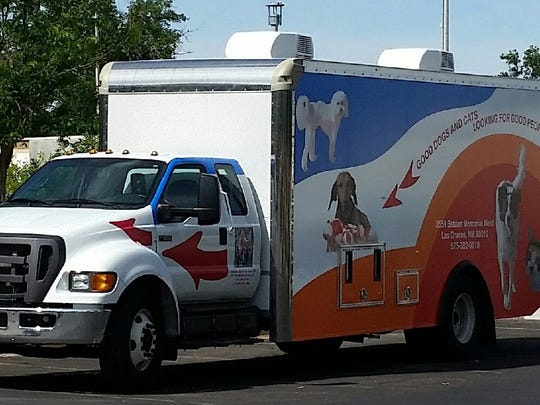This Animal Services Center of the Mesilla Valley van takes unwanted pets for adoption in other states.