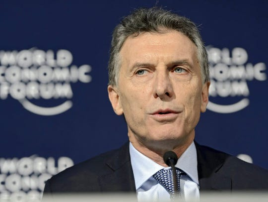 Argentinian President Mauricio Macri at the 46th Annual