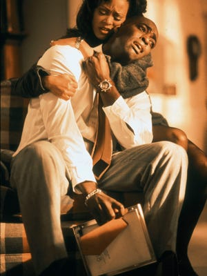 (l-r) Michael Jace and Robin Givens in Michael Jordan: An American Hero. --- DATE TAKEN: rcvd 1999  No Byline   Fox Family Channel , Source: Fox Family Channel       HO      - handout ORG XMIT: UT94942