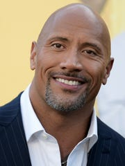 """Dwayne Johnson attends the premiere of his film, """"Central Intelligence"""" in Los Angeles in 2016."""