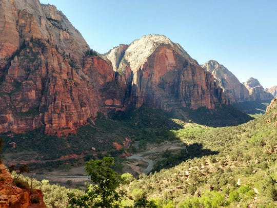 Views of Zion Canyon get prettier, and the trail steeper, as you climb