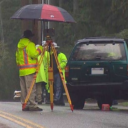 The scene of a fatal collision near Port Orchard on
