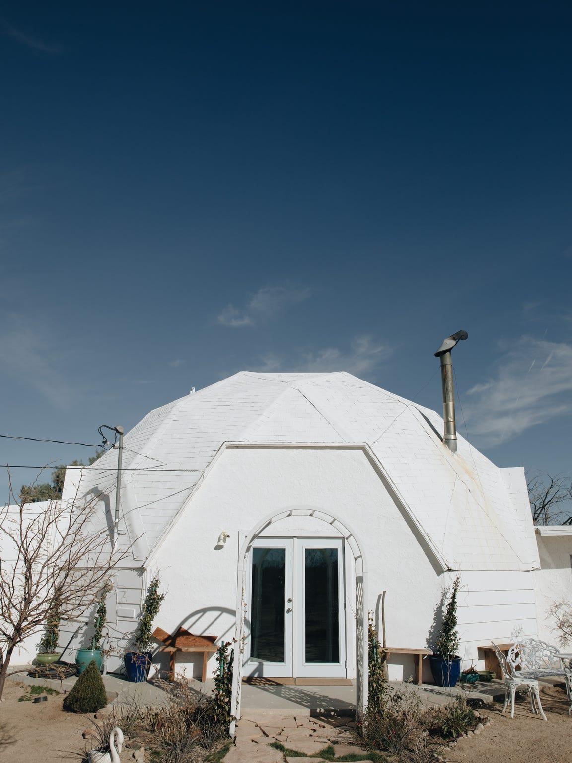At her Zen Dome in Joshua Tree, artist Angel Chen is
