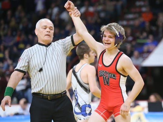 Norwich's Dante Geislinger won a state title a year ago in his first appearance in the state tournament. Twenty-two state-meet rookies from Section 4 will attempt to duplicate Geislinger's feat this weekend at the Times Union Center in Albany.