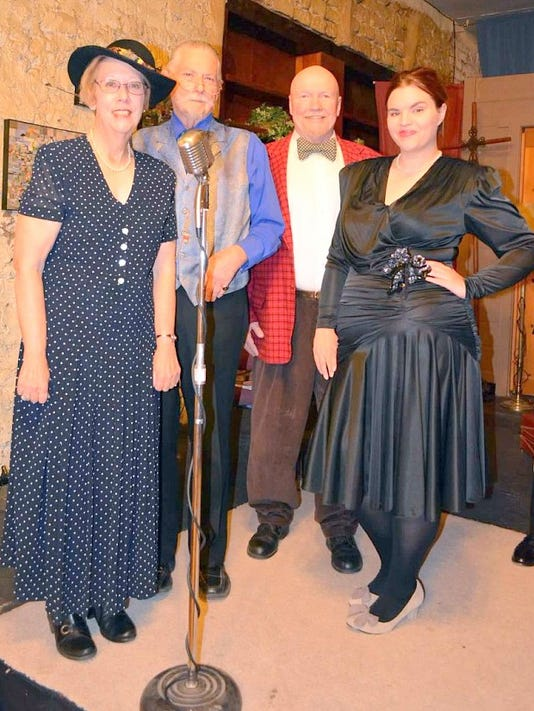 the adult players in the radio drama