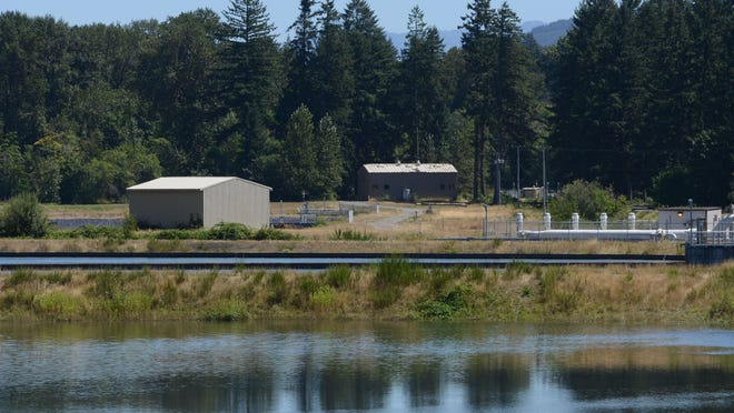 The Geren Island Water Treatment Facility in Stayton on Thursday, Aug. 7, 2014. A roughing filter is shown in the foreground.