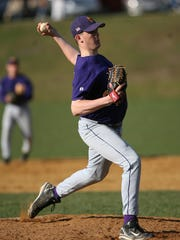 Clarkstown North's Chris O'Grady (30) pitches against