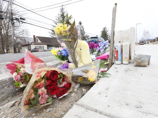 A memorial for Zuleyma Lopez and her son, 10-month-old