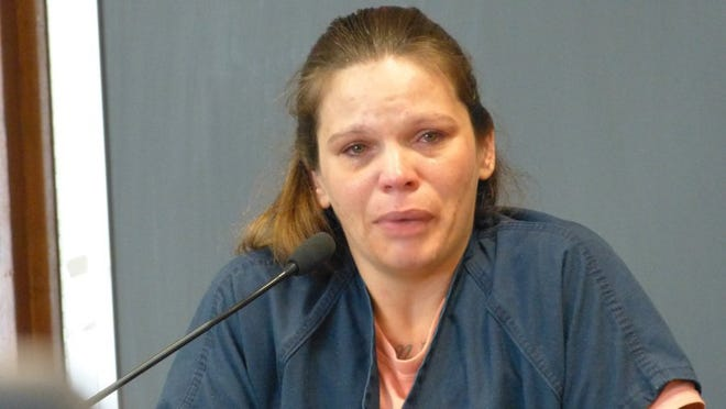 Jim Schultz/Record Searchlight Geraldine Walker testifies Wednesday in the preliminary hearing for Joseph Pasillas.