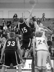 Senior Nate Wolters, who was an award finalist for Minnesota's Mr. Basketball award, is pictured in the 2009 Technical High School annual playing against Elk River.