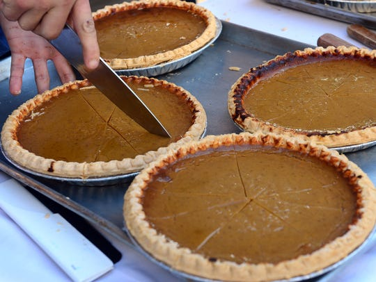 Pumpkin pies are a fall holiday tradition.