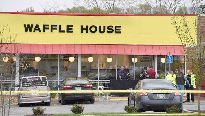 Four people died after a gunman opened fire at a Waffle House in Antioch early Sunday, April 22, 2018, before a patron wrestled the gun away, according to Metro Nashville Police.