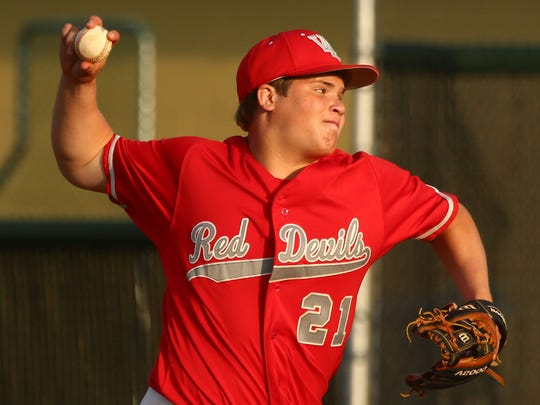 West Lafayette's Chris Kidwell pitches.