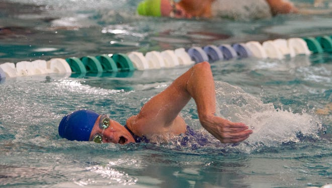 Swimmers compete in the Huntsman World Senior Games in this Spectrum file photo from the Sand Hollow Aquatic Center in St. George.