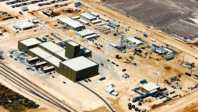 This undated file aerial photo shows the Waste Isolation Pilot Plant near Carlsbad, N.M.