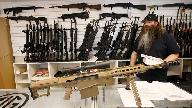 A gun shop in Springville, Utah.
