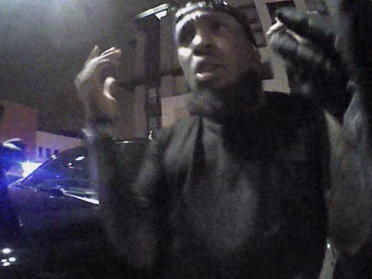 Video still Cardinals' Chris Clemons questioned by police outside Scottsdale nightclub